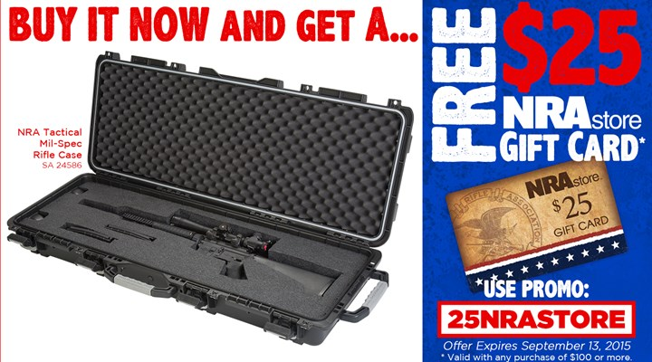 Protect Your AR-15 With A NRA Tactical Mil-Spec Rifle Case