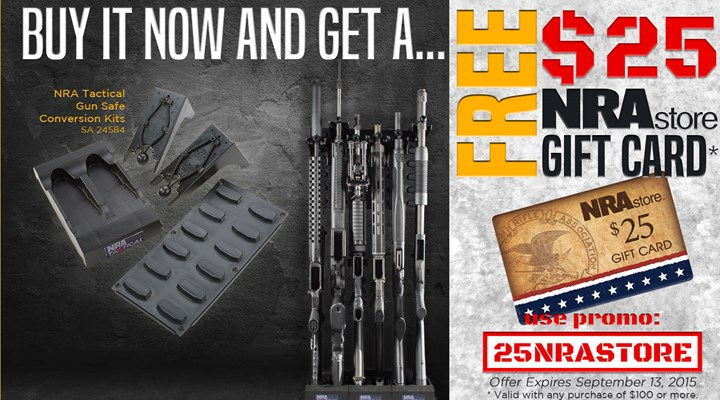 Organize Your Armory With NRA Tactical's Gun Safe Conversion Kit