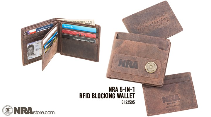 Carry Confidently With The NRA 5-In-1 RFID Blocking Wallet